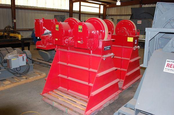 50-Ton Micarta Tank Turning Rolls On Stands